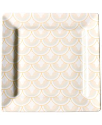 by Laura Johnson Blush Layered Arabesque Square Platter