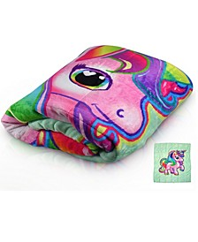 7 Lb. Quilted Plush Pleasure Pedic Unicorn Design Weighted Blanket