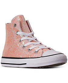 Little Girls Chuck Taylor All Star Coated Glitter High Top Casual Sneakers from Finish Line