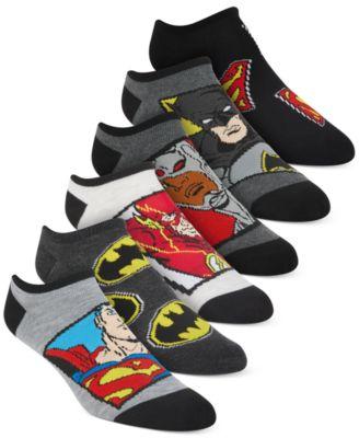 Little Boys 6-Pk. Justice League No-Show Socks