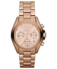 Women's Chronograph Mini Bradshaw Rose Gold-Tone Stainless Steel Bracelet Watch 35mm MK5799