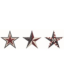 Multicolor 4th of July Patriotic Stars - Set of 3