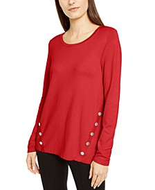 Hardware Seamed Sweater, Created For Macy's