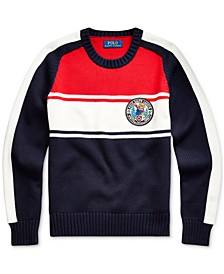 Big Boys Polo Bear Cotton Sweater, Created For Macy's
