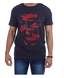 3D Graphic Dual Color Skull T-Shirt
