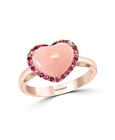 EFFY® Multi-Gemstone (2 3/8 ct.t.w.) Heart Ring in 14K Rose Gold