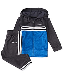 Little Boys 2-Pc. Mélange Fleece Colorblocked Hoodie & Jogger Pants Set