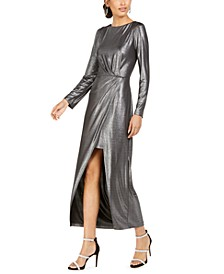 Liquid Metal Maxi Dress