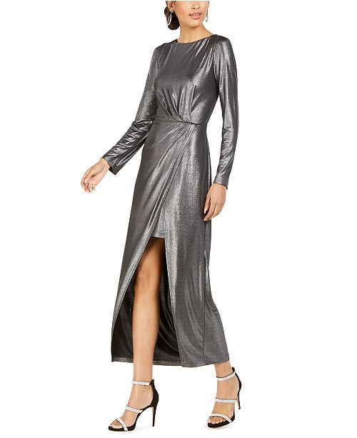 julia jordan Liquid Metal Maxi Dress