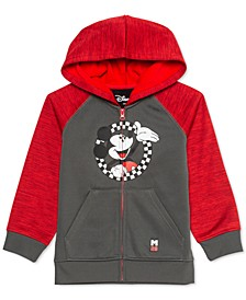 Little Boys Mickey Mouse Checker Circle Colorblocked Hoodie