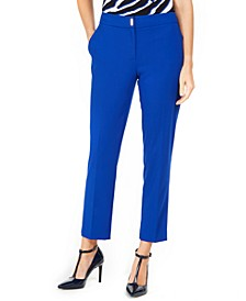 Petite Straight-Leg Ankle Pants