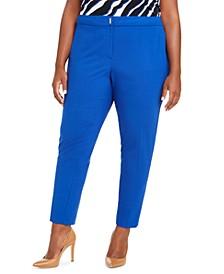 Plus Size Slim-Leg Dress Pants