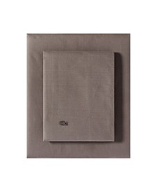Lacoste Washed Percale Solid California King Sheet Set