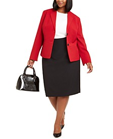 Plus Size Pencil Skirt Suit
