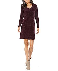 Nine West V-Neck Sweater Dress