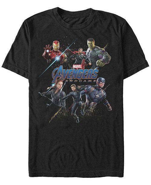 Marvel Men's Avengers Endgame Splatter Group, Short Sleeve T-shirt