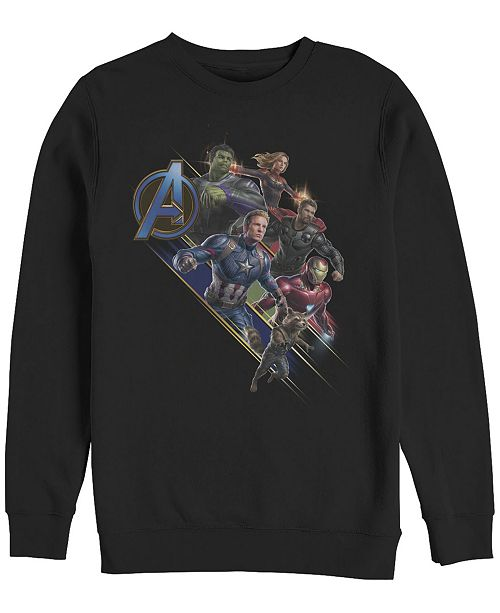 Marvel Men's Avengers Endgame Group Action, Crewneck Fleece