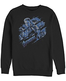Men's Avengers Endgame Captain America Group, Crewneck Fleece