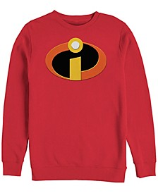 Pixar Men's Incredibles Colored Logo Pocket, Crewneck Fleece