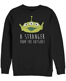 Pixar Men's Toy Story Aliens Stranger Outside, Crewneck Fleece