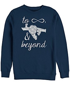 Pixar Men's Toy Story Buzz Lightyear to Infinity Symbol, Crewneck Fleece
