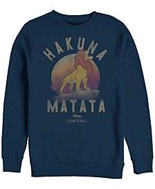 Men's Lion King Simba Hakuna Matata, Crewneck Fleece
