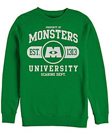 Pixar Men's Monsters University Est. 2013 Logo, Crewneck Fleece