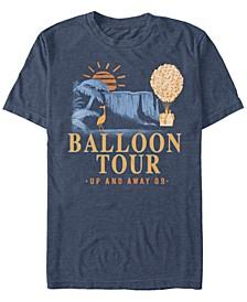 Pixar Men's Up Balloon Tour, Short Sleeve T-Shirt