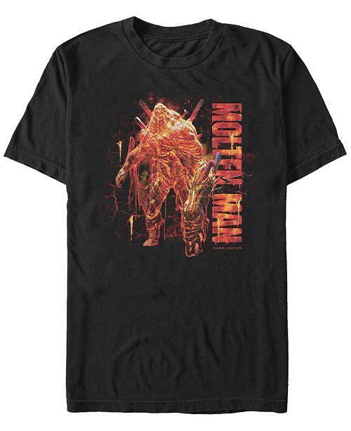 Marvel Men's Spider-Man Far From Home Molten Man, Short Sleeve T-shirt