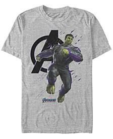 Men's Avengers Endgame Hulk Galaxy Jump, Short Sleeve T-shirt