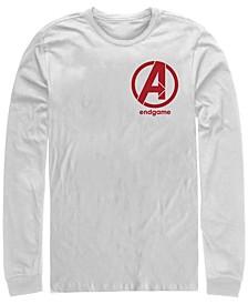 Men's Avengers Endgame Left Chest Logo, Long Sleeve T-shirt
