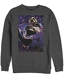 Men's Avengers Endgame Thanos Galaxy Shattered Glass, Crewneck Fleece