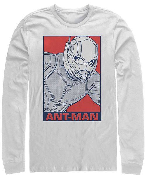 Marvel Men's Avengers Endgame Ant-man Pop Art Poster, Long Sleeve T-shirt