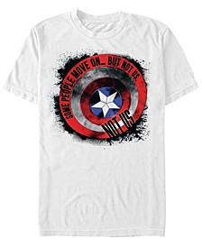 Men's Avengers Endgame Captain America Ink Shield, Short Sleeve T-shirt