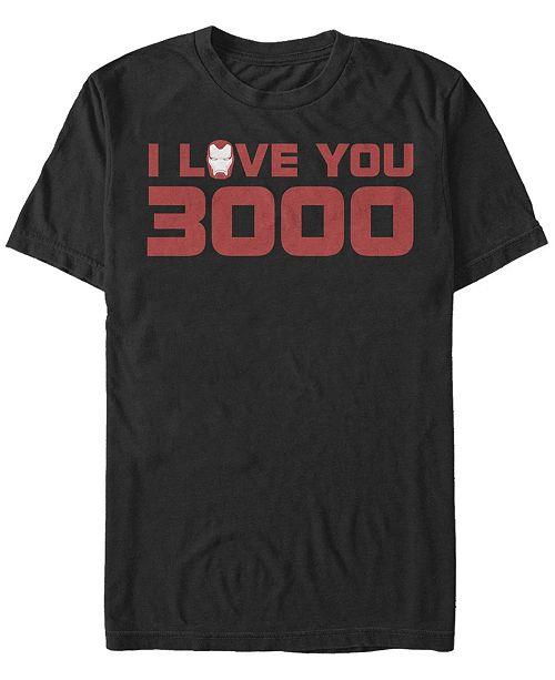 Marvel Men's Avengers Endgame I Love You 3000 Iron Man Helmet, Short Sleeve T-shirt