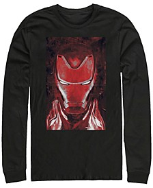Men's Avengers Endgame Red Iron Man Poster, Long Sleeve T-shirt