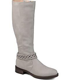 Women's Wide Calf Paisley Boot