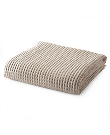 Great Bay Home Mikala Collection Cotton Waffle Weave Blanket, Full/Queen