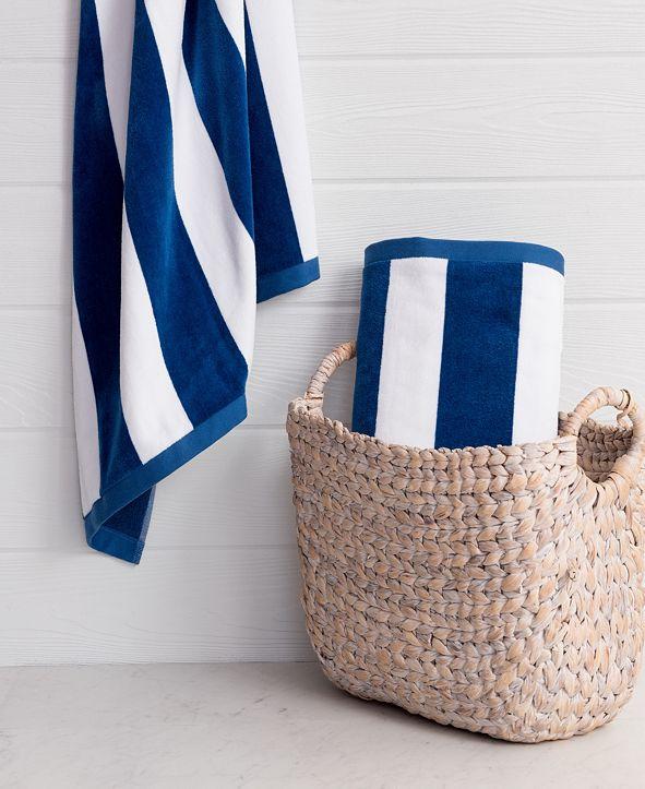 Welhome Cabana 2-Pc. Turkish Cotton Beach Towel Set
