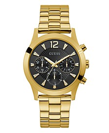 Unisex Gold-Tone and Black Multi-Function Watch, 36mm