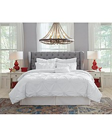 Pointehaven Knotted Pintuck Twin Comforter Set