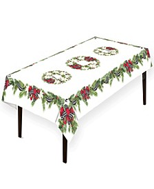 "Christmas Trimmings Tablecloth - 70"" x 144"""