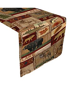 "Lodge Collage Table Runner - 13"" x 90"""