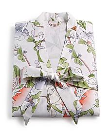 English Garden Cotton 300-Thread Count Robe, Created for Macy's