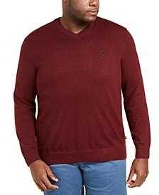 Men's Big & Tall Navtech Jersey-Knit V-Neck Sweater