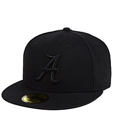 Alabama Crimson Tide Core Black on Black 59FIFTY Fitted Cap