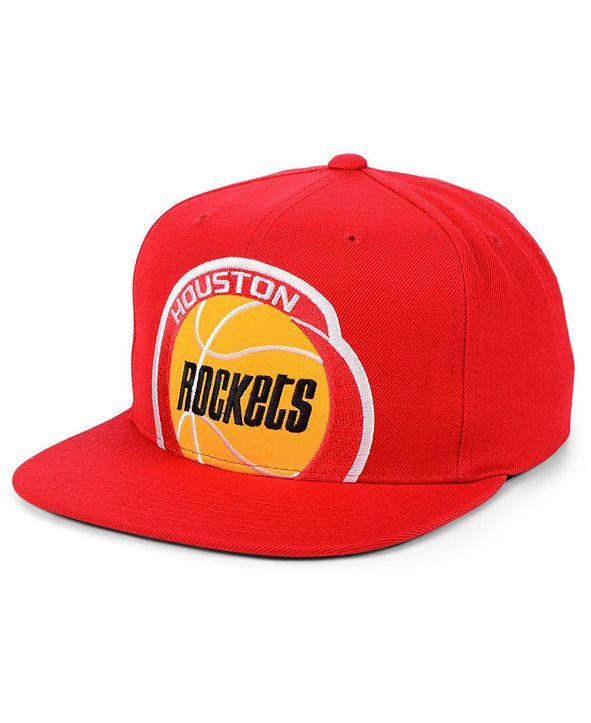 Mitchell & Ness Houston Rockets Hardwood Classic Cropped Snapback Cap