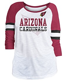 Women's Arizona Cardinals Three-Quarter Sleeve Slub Raglan T-Shirt
