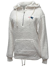 Women's New England Patriots Sherpa Quarter-Zip Pullover
