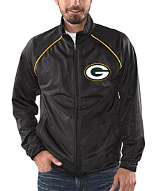 Men's Green Bay Packers Black Tracer Track Jacket